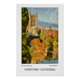 Hereford Cathedral Fine Art Poster Print