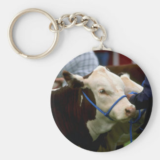 Hereford Cattle Keychain