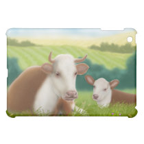 Hereford Cow and Calf Case For The iPad Mini