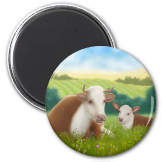 Hereford Cow and Calf Magnet