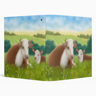 Hereford Cow & Calf Avery Binder