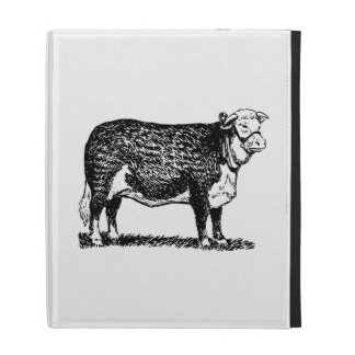 Hereford Cow iPad Folio Cover