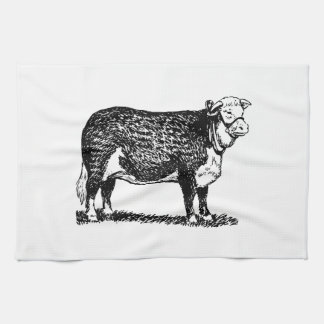 Hereford Cow Hand Towel