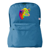 Hereford Cow in Colors American Apparel™ Backpack