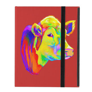 Hereford Cow in Colors iPad Case