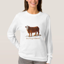 Hereford Cow: One Tough Momma: Mother's Day T-Shirt