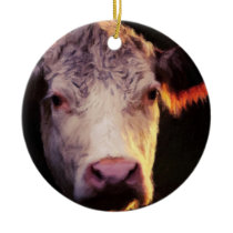 Hereford Cow Ornament Painting