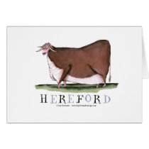 hereford cow, tony fernandes card