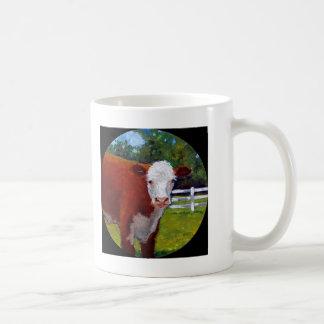 HEREFORD HEIFER COW ART COFFEE MUG
