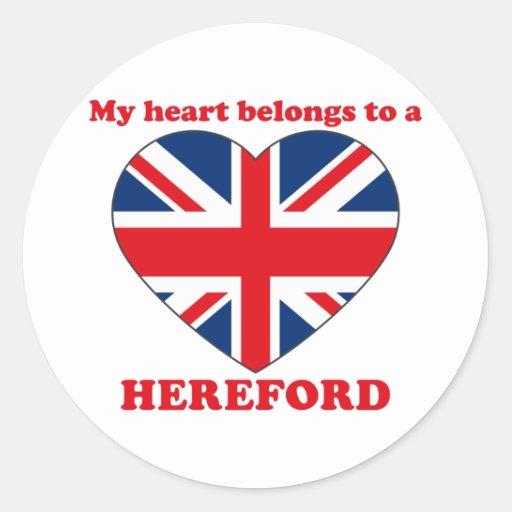 Hereford Pegatina Redonda