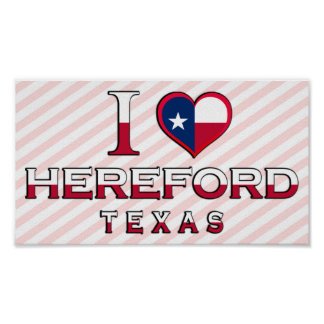 Hereford, Texas Poster