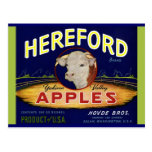 Hereford Washington Apples Post Cards
