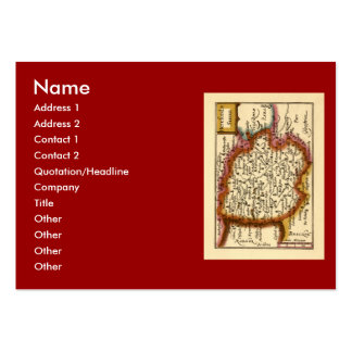 Herefordshire County Map, England Large Business Cards (Pack Of 100)