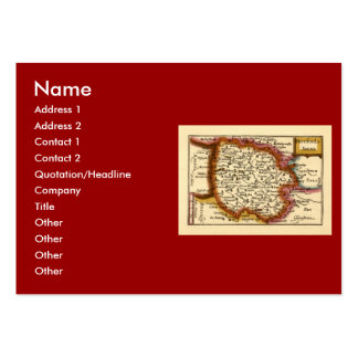 Herefordshire County Map, England Large Business Card