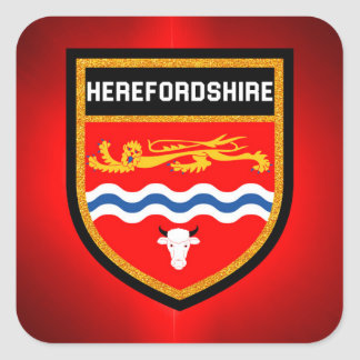 Herefordshire Flag Square Sticker