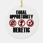 Hereje de la igualdad de oportunidades ornamento para reyes magos