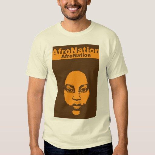 Herencia africana del arte de la nación del Afro Playera