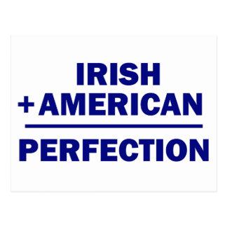 Herencia americana irlandesa tarjeta postal