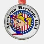 Herencia americana patriótica ornamentos de navidad