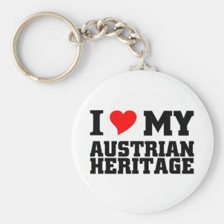 Herencia austríaca llavero redondo tipo pin