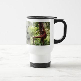 Herencia de la protección de la selva tropical de  taza de viaje de acero inoxidable
