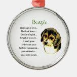 Herencia del beagle del amor adornos de navidad