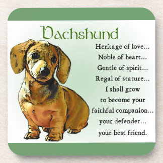 Herencia del Dachshund del amor Posavasos De Bebidas