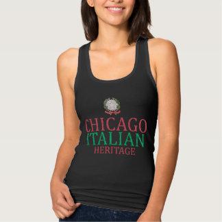 Herencia del italiano de Chicago del vintage Playera Con Tirantes