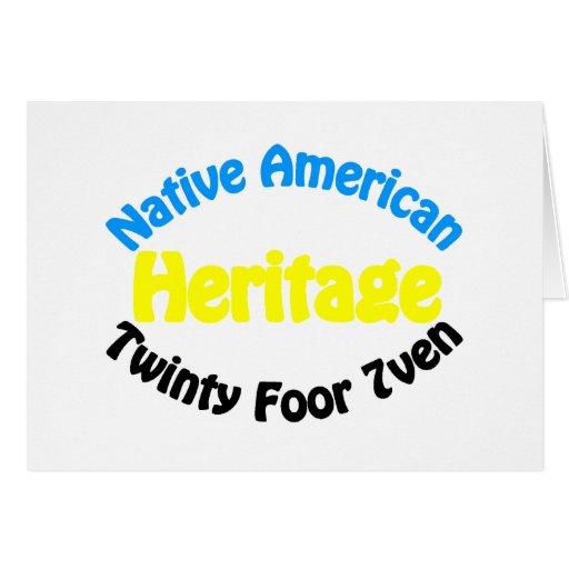 Herencia del nativo americano - Twinty Foor 7ven Felicitaciones