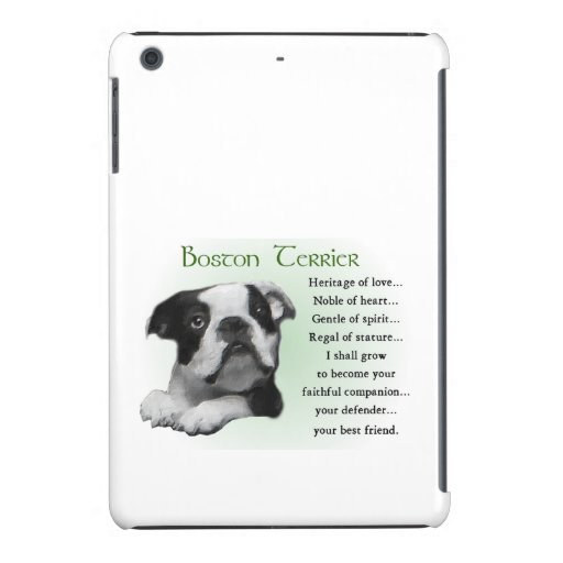Herencia del perrito de Boston Terrier del amor Funda Para iPad Mini Retina