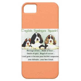 Herencia del perro de aguas de saltador inglés del iPhone 5 Case-Mate coberturas
