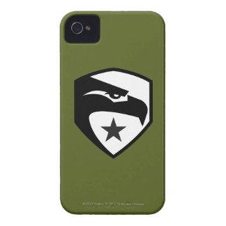 Herencia Eagle negro iPhone 4 Case-Mate Cárcasas