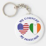 Herencia irlandesa del país llavero personalizado