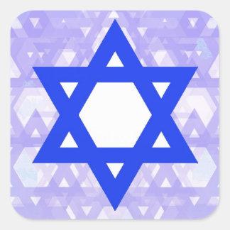 Herencia judía,… la estrella de David Pegatina Cuadrada