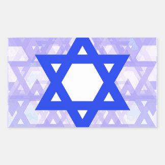 Herencia judía,… la estrella de David Pegatina Rectangular