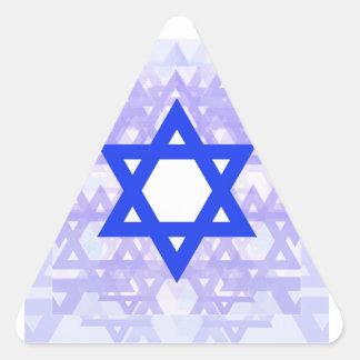Herencia judía,… la estrella de David Pegatina Triangular
