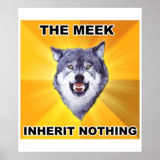 Herencia mansa del lobo del valor póster