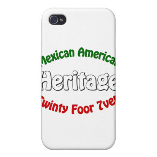 Herencia mexicana-americano iPhone 4/4S carcasa