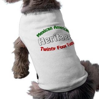 Herencia mexicana-americano camisetas de perrito