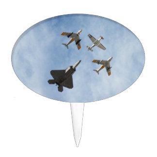Herencia - P-51 mustango, sable de F-86-F, rapaz Decoraciones De Tartas