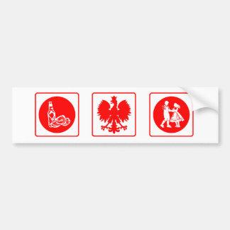 Herencia polaca etiqueta de parachoque