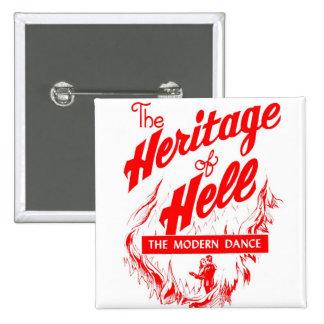 Herencia retra del pecado del kitsch del vintage d pin cuadrada 5 cm
