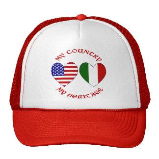 Herencia roja del país de los E E U U del italian Gorros