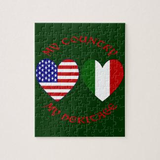 Herencia roja del país de los E E U U del italian Puzzle Con Fotos