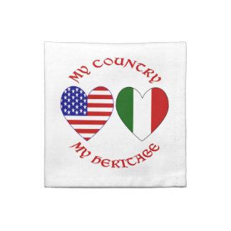 Herencia roja del país de los E.E.U.U. del italian Servilleta Imprimida