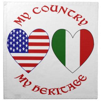 Herencia roja del país de los E.E.U.U. del italian Servilletas De Papel