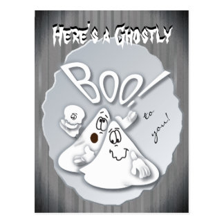Here's a ghostly Boo to you! Halloween Postcard