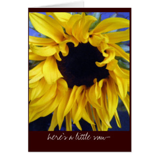 here's a little sunflower . . . card