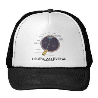 Here's An Eyeful (Eye Anatomy Humor) Hats