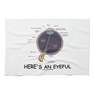 Here's An Eyeful (Eye Anatomy Humor) Kitchen Towels